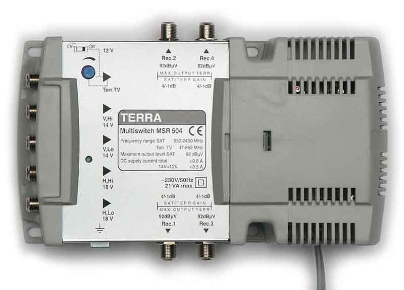 5 200 RUR.  Спутниковый активный мультисвич Terra MSR 508 5x8 работает с НТВ-плюс, Триколор ТВ.